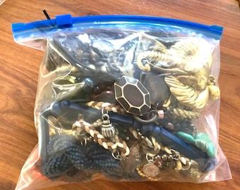 MYSTERY Boho JEWELRY grab bag  1 LB Treasure Box Jewelry Lot   Broken Jewelry for Crafts Bulk Jewelry   Bulk Jewelry wholesale