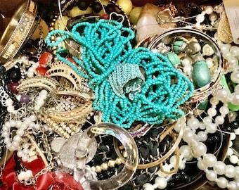 MYSTERY JEWELRY grab bag  5 LBS!! Treasure Box Jewelry Lot   Broken Jewelry for Crafts Bulk Jewelry   Bulk Jewelry wholesale