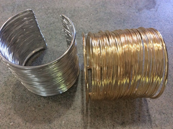 Gold Wire For Jewelry Making | Silver Or Gold Wire Wrapped Cuff Bracelet Jewelry Making Etsy