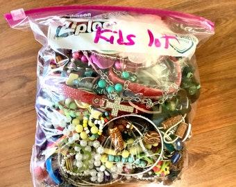 KIDS junk JEWELRY grab bag 4 LBS!! Treasure Box Jewelry Lot   Broken Jewelry for Crafts Bulk Jewelry   Bulk Jewelry wholesale