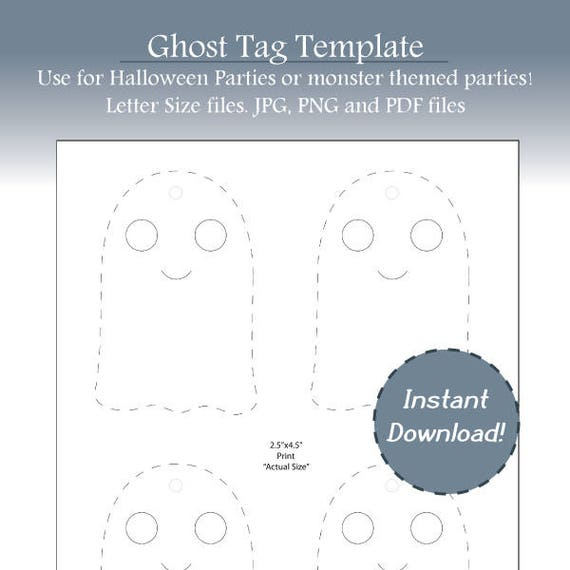 graphic regarding Ghost Template Printable named Halloween Tags, Slide Tags, Ghost Label Template, Blank Ghost Template, Halloween Bash Tag, Blank Labels, Instantaneous Obtain, Printable