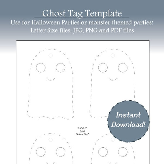 photo regarding Ghost Template Printable known as Halloween Tags, Tumble Tags, Ghost Label Template, Blank Ghost Template, Halloween Celebration Tag, Blank Labels, Instantaneous Down load, Printable