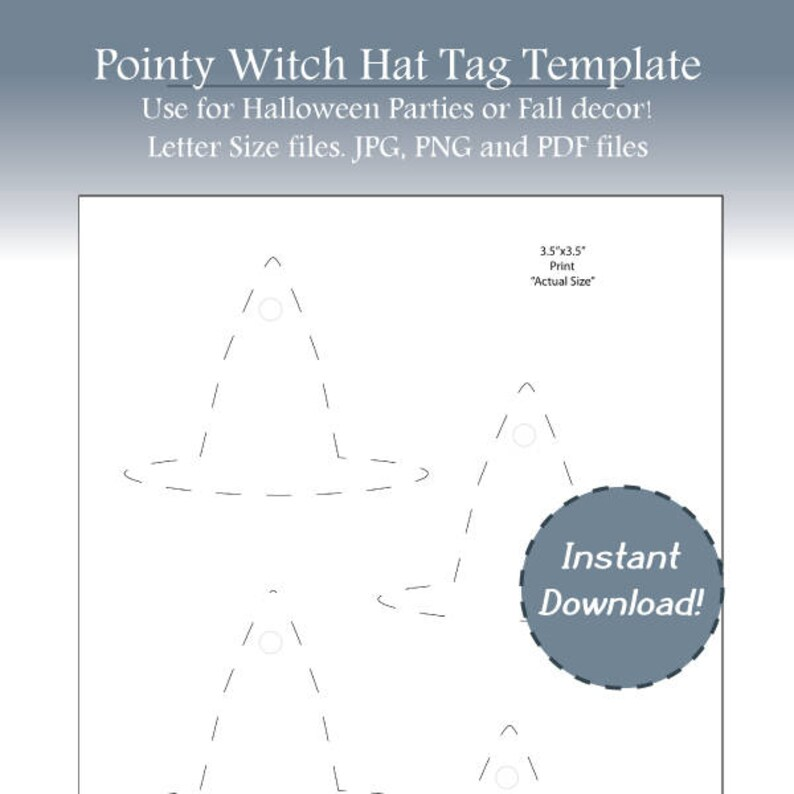 image relating to Witches Hat Template Printable called Halloween Tags, Witch Tags, Witch Hat Label Template, Blank Drop Template, Halloween Get together Tag, Blank Labels, Prompt Obtain, Printable