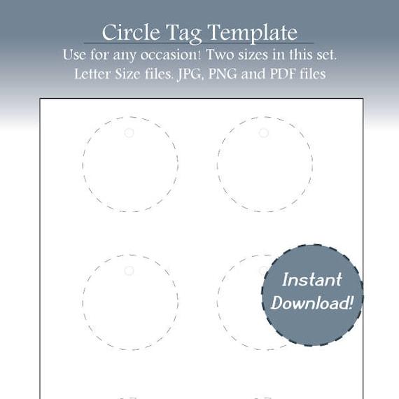 christmas tag holiday tag circle template blank circle etsy