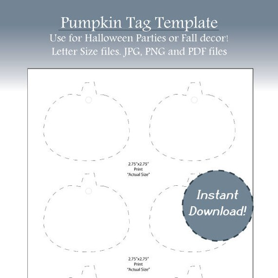 halloween tags fall tags pumpkin label template blank fall etsy