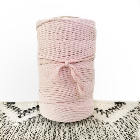 BABY PINK 4mm Single Twist Cord 1kg