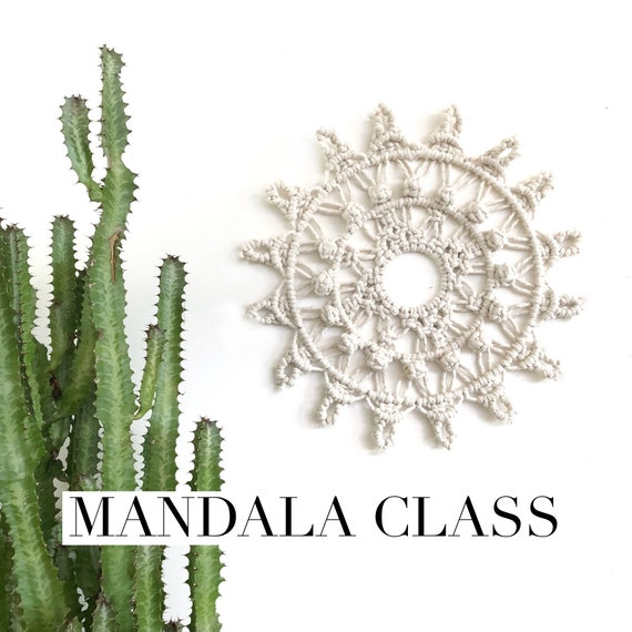 Macrame Mandala Class |  Beginner - Intermediate