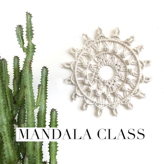 Macrame Mandala Tutorial Pattern Video Class Macrame | Etsy