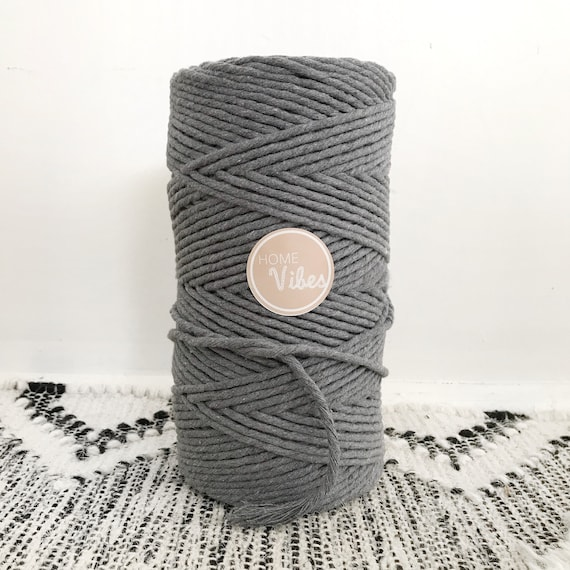 PREORDER GREY ASH Single Twist Cord 4mm 1kg
