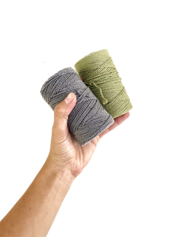 """Micro Macrame Range"" 1mm x 100m (Lavender, Olive, Black, Grey, Brown)"