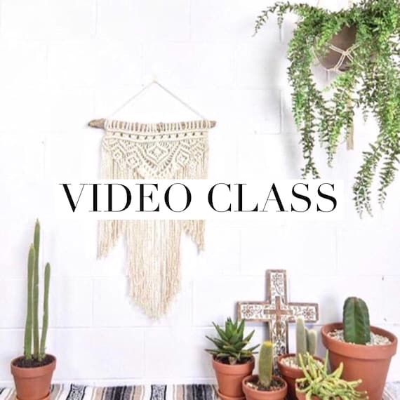 "Macrame Wall Hanging Class - Beginner - Intermediate Video Tutorial ""Aztec"""