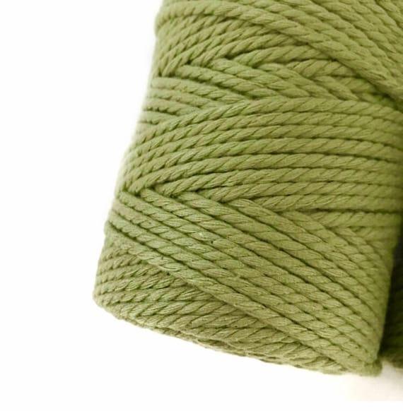GREEN OLIVE Macrame Cord
