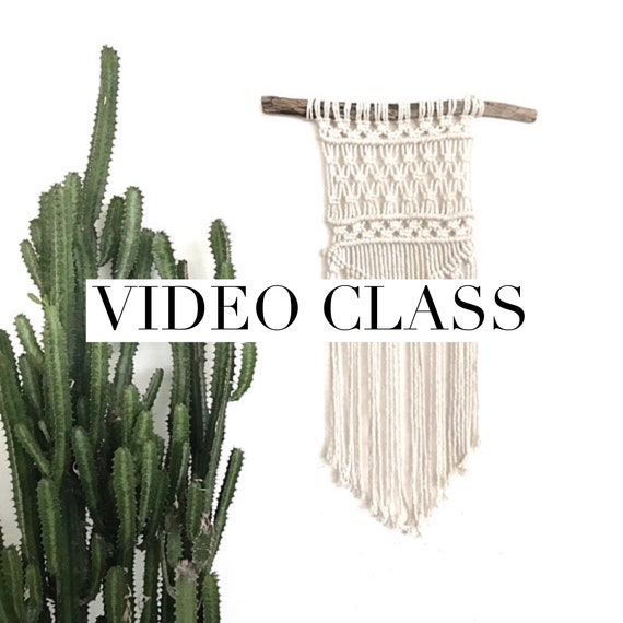 "Macrame Wall Hanging Class - Beginner Video Tutorial ""Nomad"""