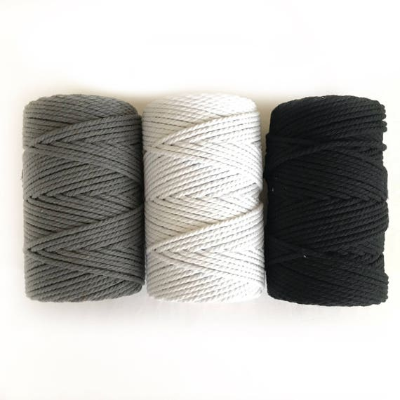 WHITE Macrame Cord 4mm 3 PLY 1kg