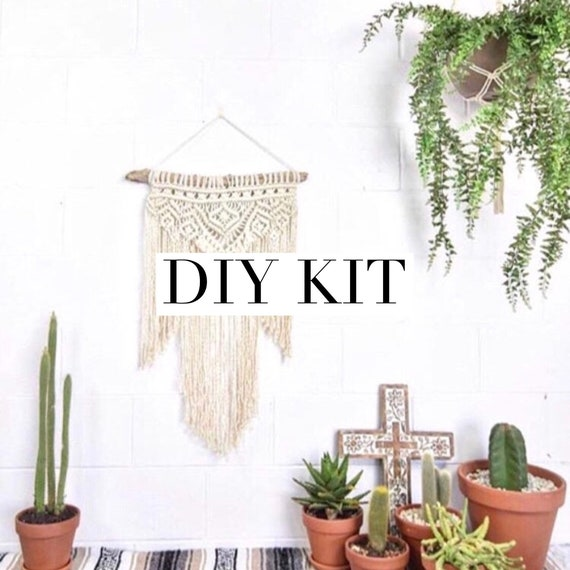 "DIY KIT Macrame Wall Hanging ""AZTEC"""