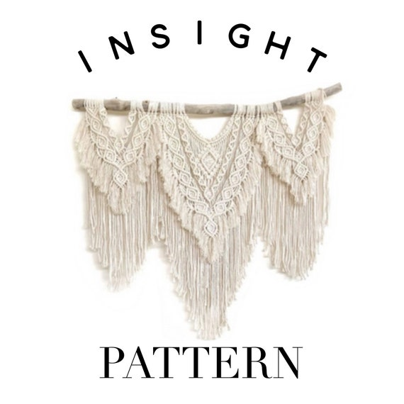 "Large Advanced ""Insight"" Macrame Pattern"