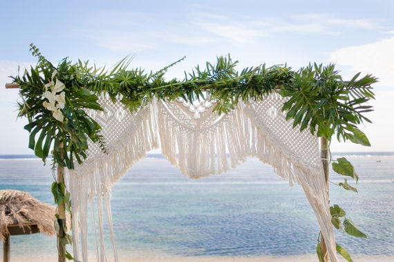 Macrame Wedding Backdrop Hire