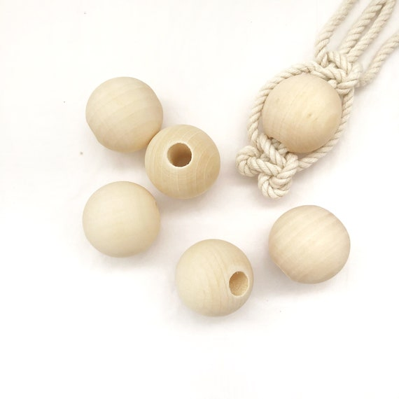 Wooden Beads for Macrame and other crafts - Pack of 6