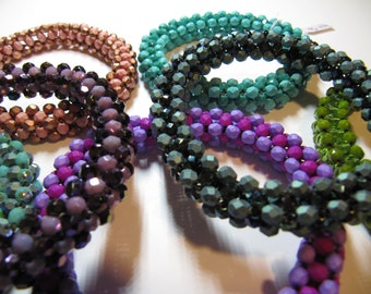 Cubic bangle bracelet in assorted colors