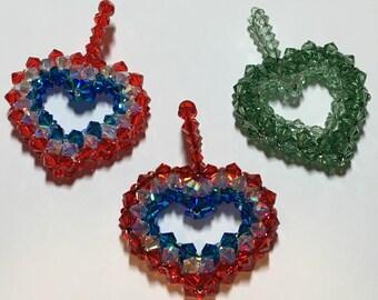 Swarovski open heart pendant and necklace
