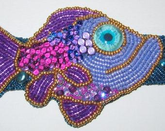 """Kinga Nichols Fishy Bracelet, 7.25"""" cuff"""