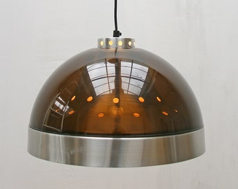 Vintage Vintage Space Age Futuristic Plastic Aluminium Dome Pendant Lamp Lucite Ceiling Atomic Era Mid Century Modern Retro Lighting Scandinavian Etsy Retro Lighting Etsy
