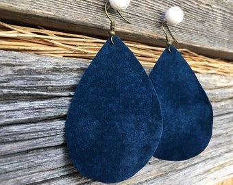 Boho Friend Gift | Boho Mother's Day, Blue Earrings for Wife, Bohemian Earrings Mother's Day, Joanna Gaines Inspired, Lightweight Teardrops