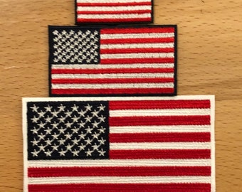 "Black//Gray USA American Flag Red Strip Embroidered Patches 3/""x2/"""