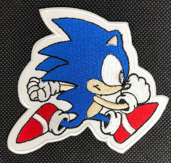 Sonic Hedgehog Running Patch Etsy