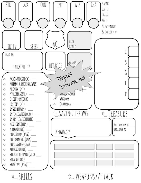 basic dungeons and dragons character sheet simple dungeons and dragons character sheet dnd e