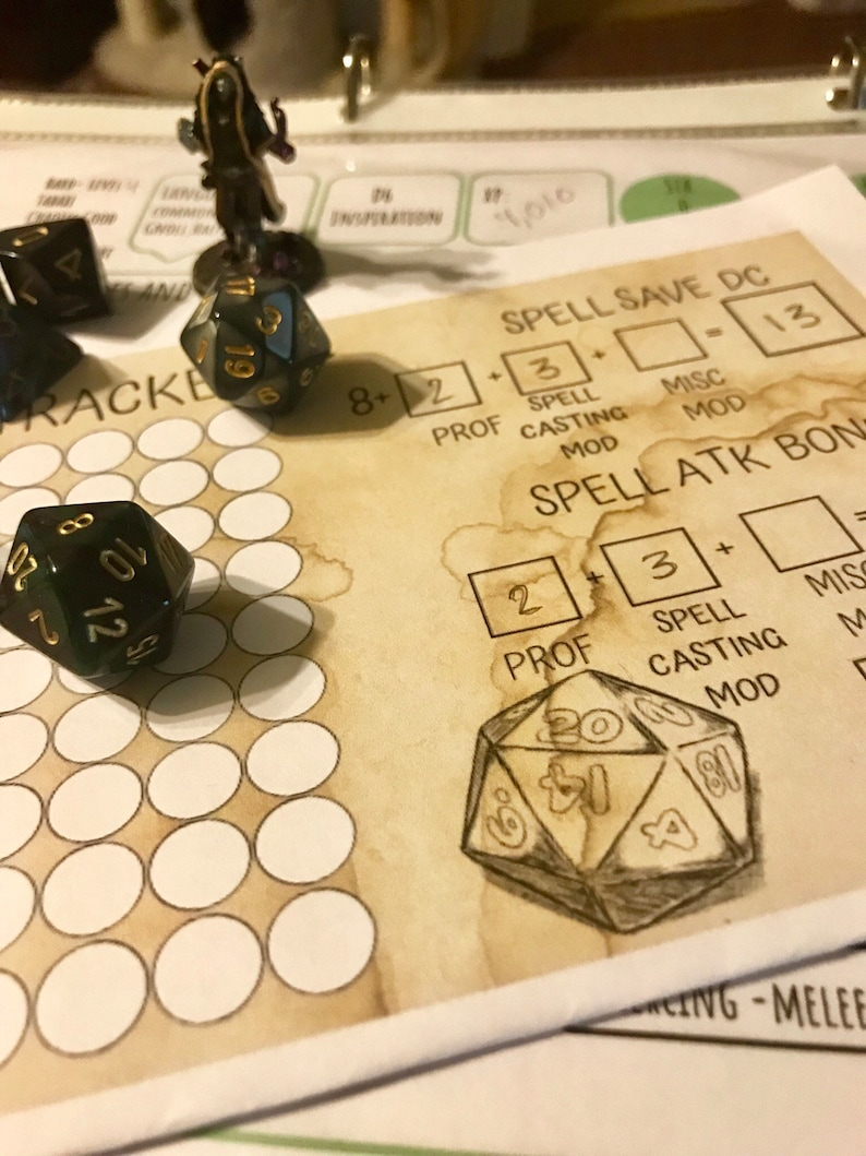 Spell Tracker For Dungeons and Dragons 5e D&D