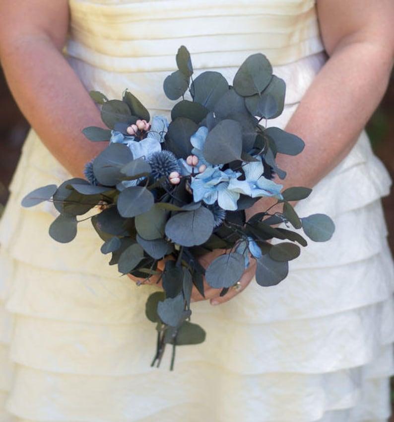Blue and Peach Bouquet