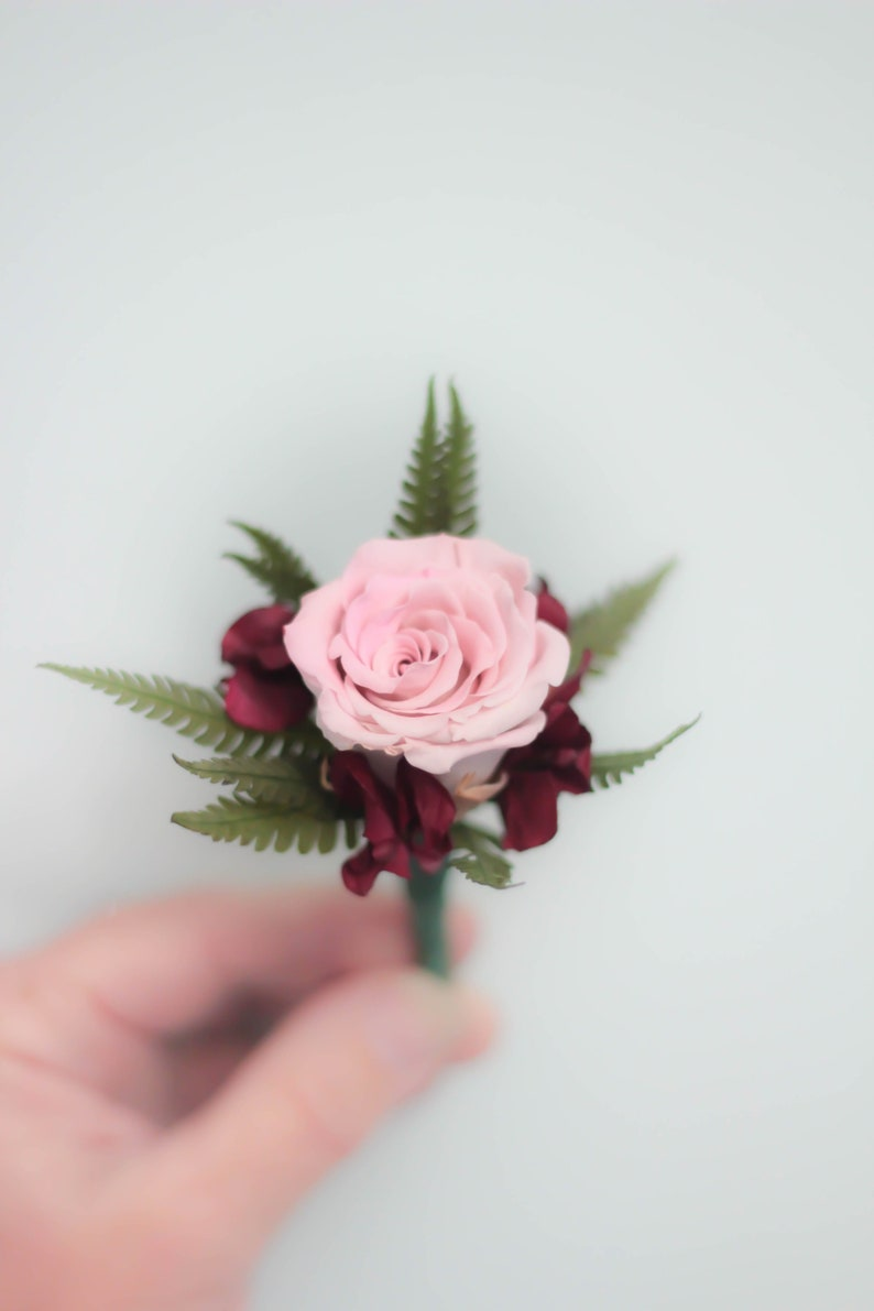 Dried flowers Rose  The Gabby Collection Red and Blush Bouquet Wedding Bouquet  Bouquet Dried Flower Bouquet Blush Boutonni\u00e8re