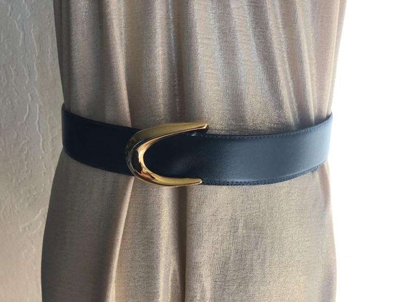Size Large Vintage Dark Navy Blue Toledano Belt