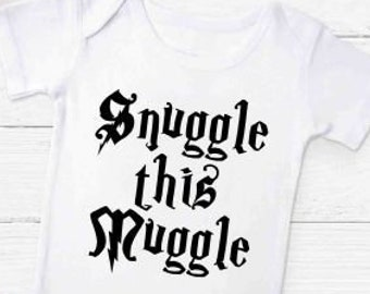 33f9590e4cc Snuggle This Muggle Gerber Baby Onesie® Baby Wizard Bodysuit - Perfect Gift  For Harry Potter Fans! Muggle Baby Romper