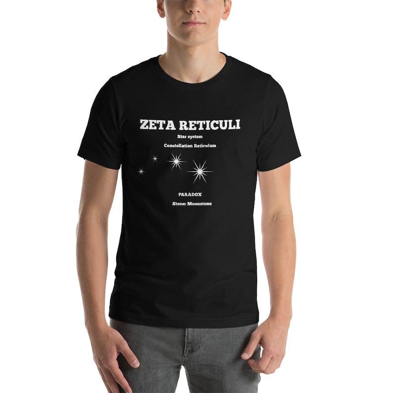 Zeta Reticuli Star System Short-Sleeve Unisex T-Shirt Many Colours,  Constellation