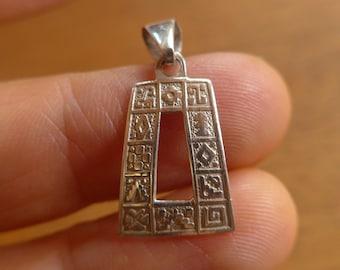 950 Silver Inca Symbols Pendant