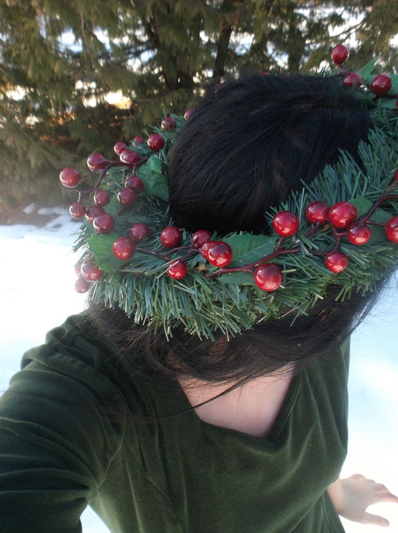 The Ghost Of Christmas Present.A Christmas Carol Ghost Of Christmas Present Charles Dickens Crown Headdress Headpiece Garland Winter Fairy Berry Holiday Wreath Theater