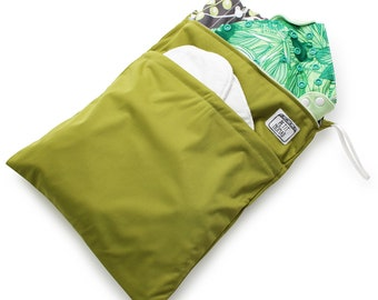 Multipurpose Green Wet Bag for Cloth Diapers