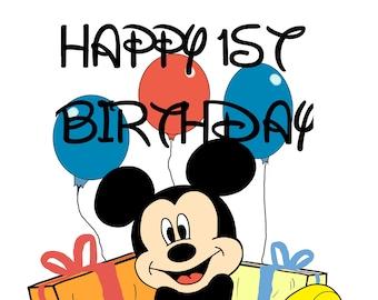 Happy Birthday Card Mickey Mouse