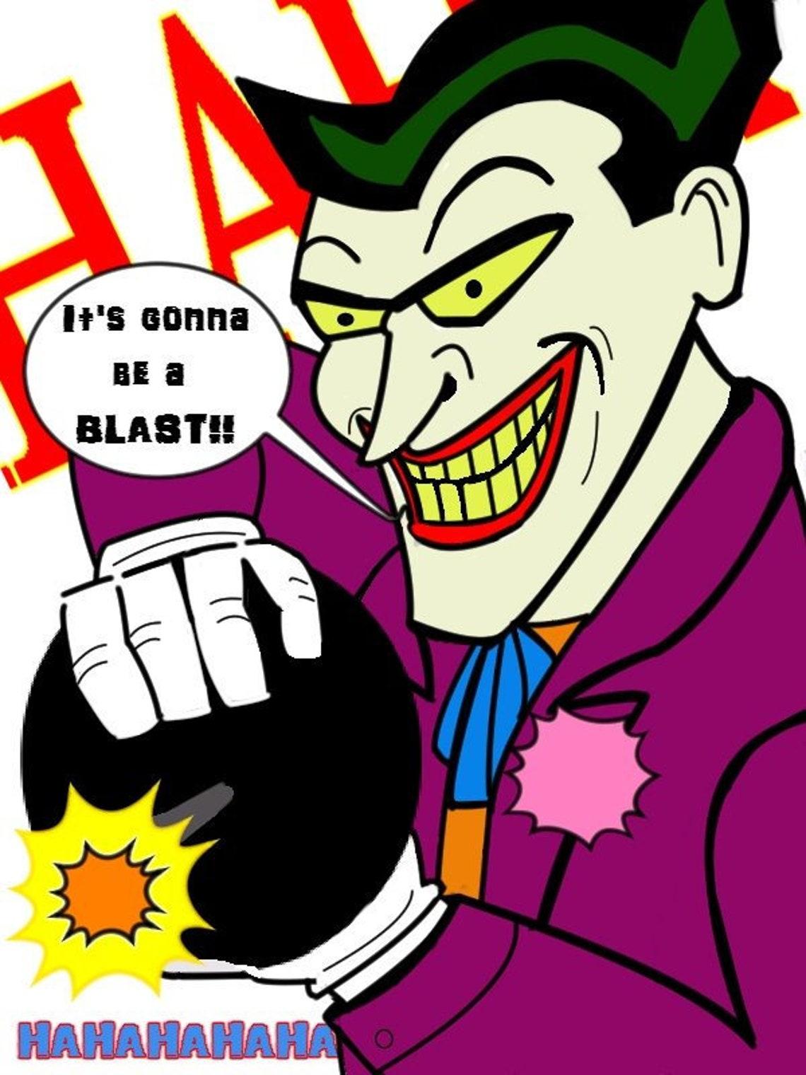 joker batman the animated series blank card  birthday