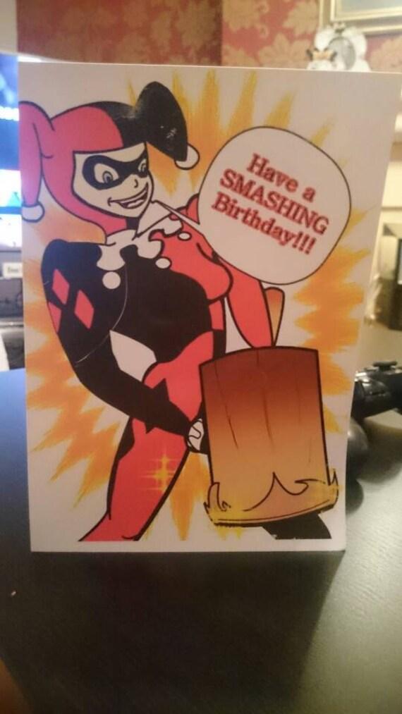 Tarjeta De Cumpleaños En Blanco De Harley Quinn