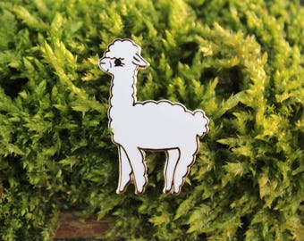 Alfalfa the Alpaca Enamel Pin