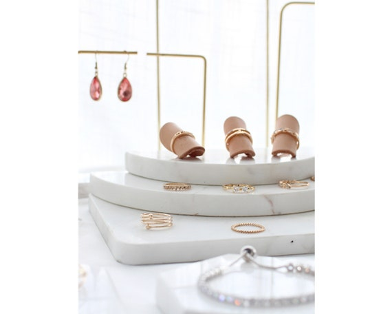 jewelry display stand with marble base earring holder 3181 white jewelry organizer stand earring stand White marble jewelry display