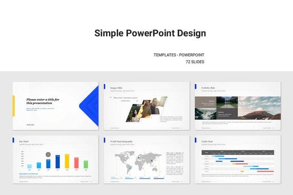 Einfache PowerPoint-Vorlage | Etsy