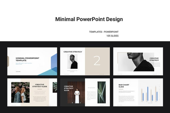 minimal powerpoint template etsy