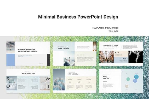 Minimal business plan powerpoint template etsy image 0 friedricerecipe Choice Image