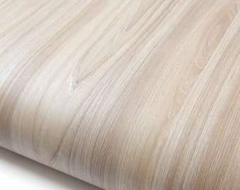 ROSEROSA Peel and Stick Flame retardation PVC Wood Instant Self-Adhesive Covering Countertop Stripe Wood PF4071-4 1.98 ft X 6.56 ft