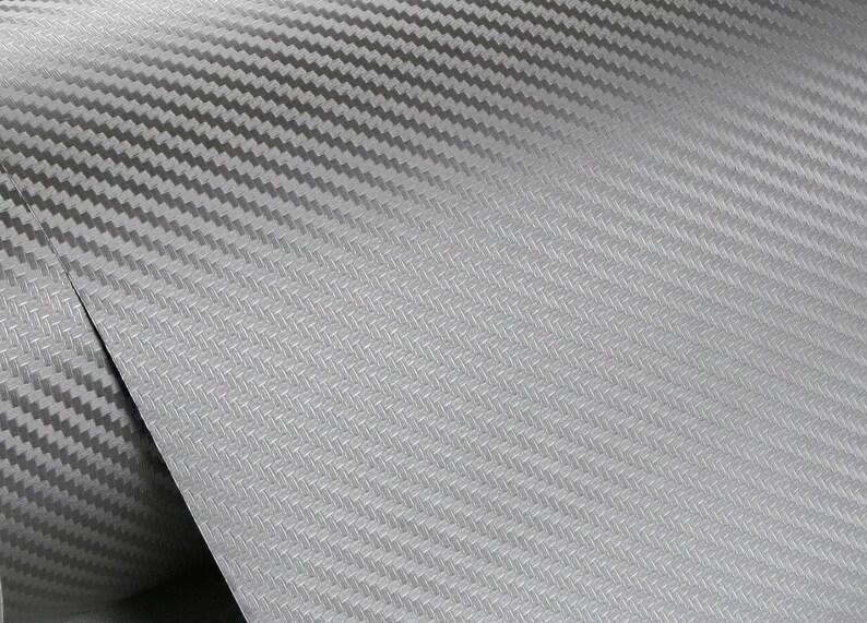 Peel & Stick Carbon Pattern Pre-Pasted Self-Adhesive Wallpaper [Dark Gray :  50cm(1 64ft) X 300cm(9 84ft)]