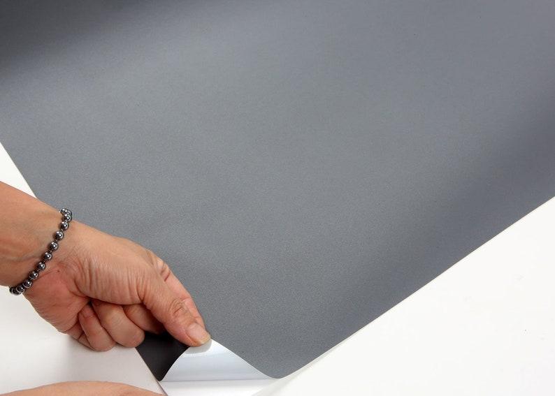 2.00 feet X 6.56 feet ROSEROSA Peel and Stick PVC Solid Decorative Instant Self-Adhesive Covering Countertop Backsplash Gray SL542